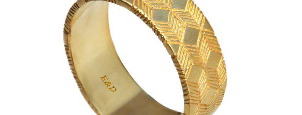 טבעת לגבר כוכב מגן דוד