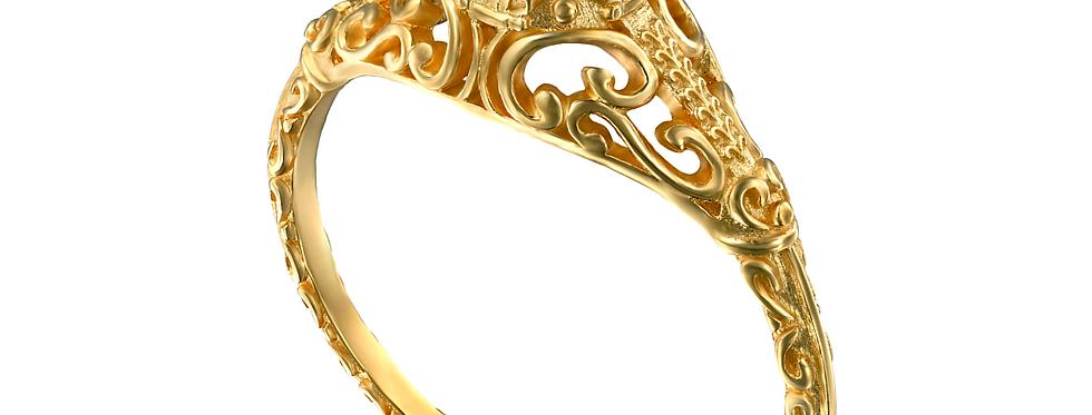 טבעת ויקטוריה אמרלד ירוק