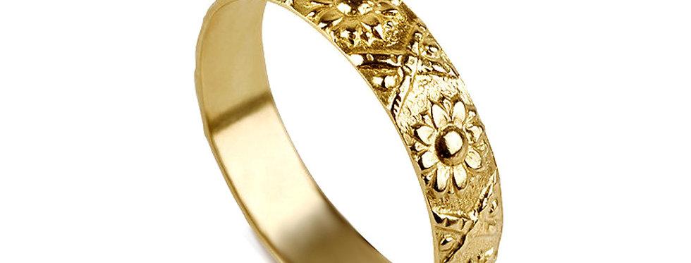 טבעת נישואין חמניות