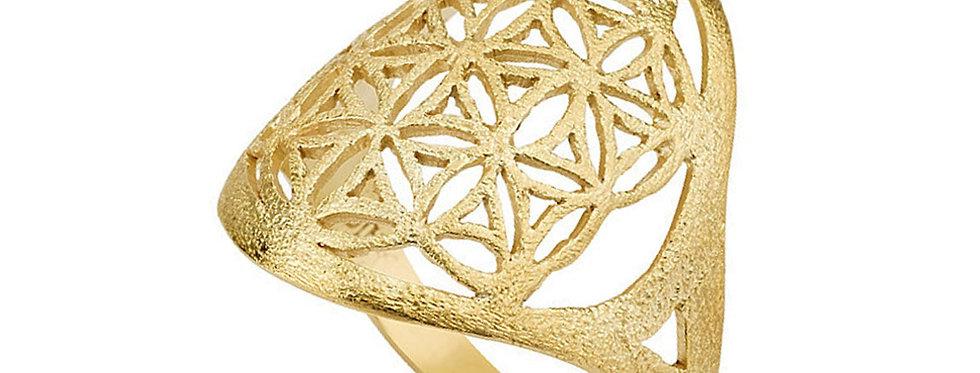 טבעת פרח החיים האליפטית