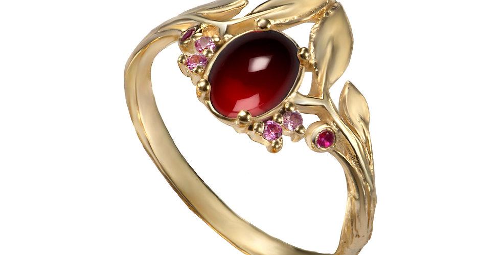 טבעת ' גרנט סיישל' זהב 14 קראט