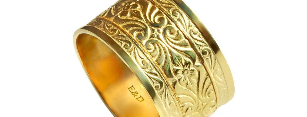 טבעת נישואין עתיקות רחבה