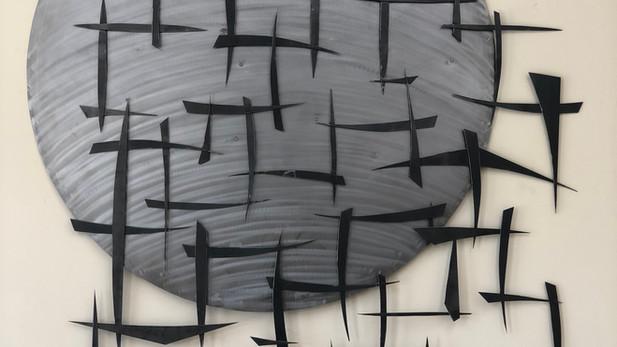 abstract steel art