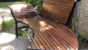custom curved bench