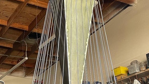 9' tall steel abstract sculpture