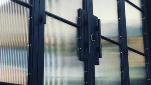 glass architecture doors