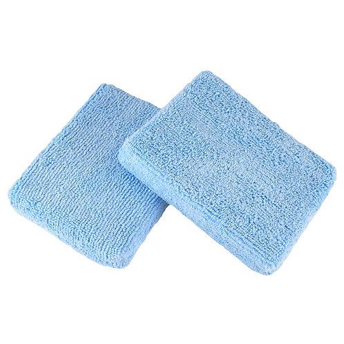 "Hi-Tech Blue 5"" x 3.75"" Microfiber Applicator (12 Pack)"
