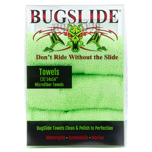 Bugslide 3 Pk Microfiber Towels
