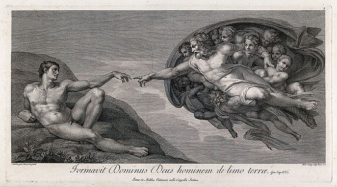 The_creation_of_Adam._Engraving_by_D._Cu