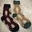 Thumbnail: Winter Wool Socks Set of 2 burgundy & Beige