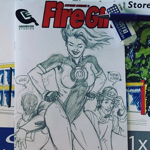 3. FireGirl Original Art