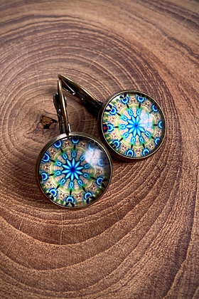 Glass Bead Drop Earring