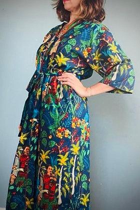 Frida Cotton Kimomo Gown, Midnight Blue