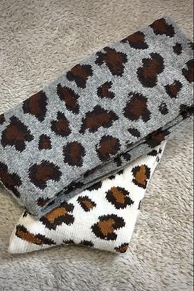 2 x pairs Leopard Print Socks