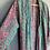 Thumbnail: Indian Silk Kimono Gown, Indian Print, Aqua