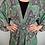 Thumbnail: Indian Silk Kimono Gown, Indian Print, Emerald