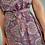 Thumbnail: Indian Silk Kimono Dress, Plum