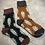 Thumbnail: Winter Wool Socks Set of 2 Orange & Green