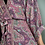 Thumbnail: Indian Silk Kimono Gown, Indian Print, Ruby