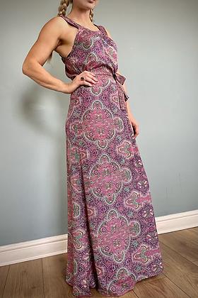 Indian Silk Kimono Dress, Plum