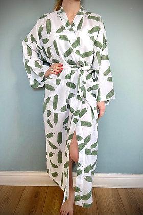 Cotton Kimomo Gown,  Feathers