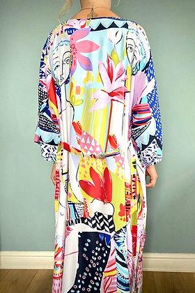 Kimono Robe, Dressing Gown, Vintage Style,  Modern Art Print Design