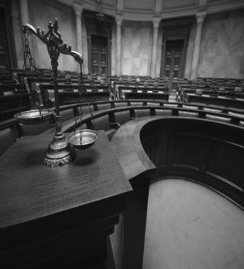 Court Room Justice scale Criminal Litigation
