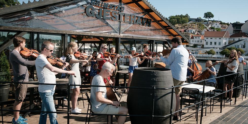Måltidskonserter - frokost og lunch i Grimstad sentrum samt mat og drikke utenfor byen