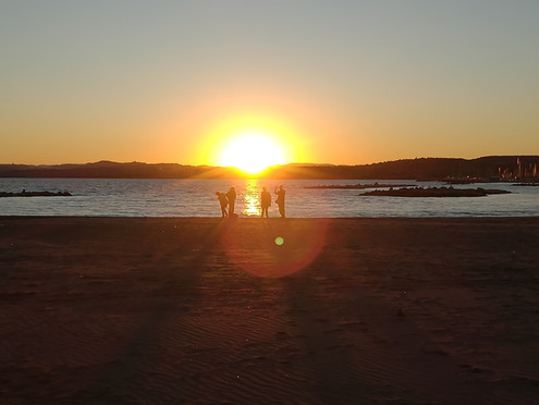 QI GONG au coucher de soleil