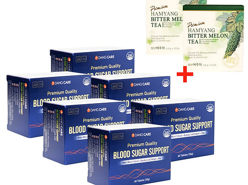 DangCare Blood Glucose Support - Special Bulk Sale!! 6 Boxes+Free Gift 30 Pouch