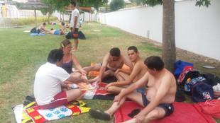 Animação nas piscinas de Coruche