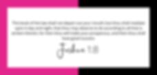 begre8t Joshua 1:8 Victoria Gaskin