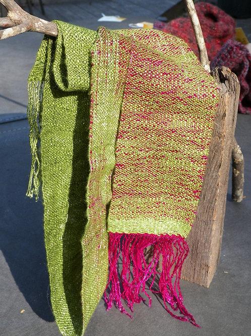 "Hand dyed ""Jewel"" scarf"