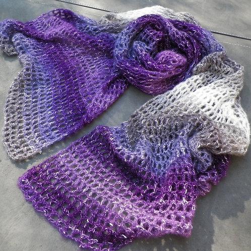 """Purple Hues"" Shawl"