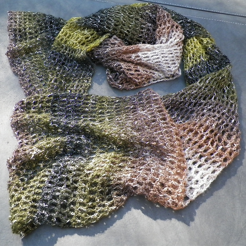 """""""Green with Envy"""" glitter ombre shawl"""