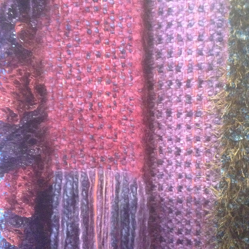 purples and pinks scarves