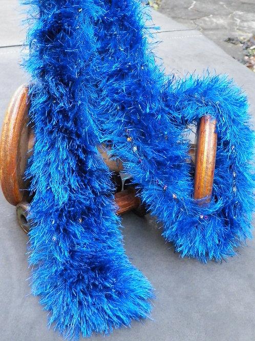 """Fuzzy Blue """"Confetti"""" scarf"""