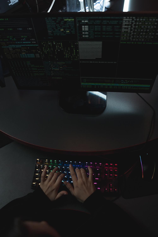 Computer scren and light up keyboard