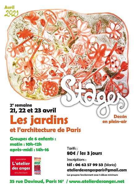 stages vacances AVRIL 2021
