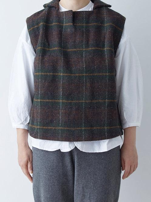 英国羊毛ツイードベスト