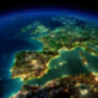 Helicopter view of Western Europe