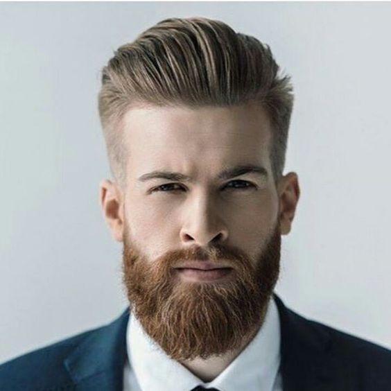 barba no ambiente de trabalho