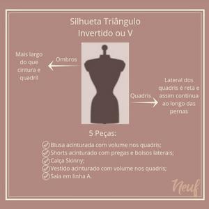 Tipos de silhueta - Triângulo Invertido
