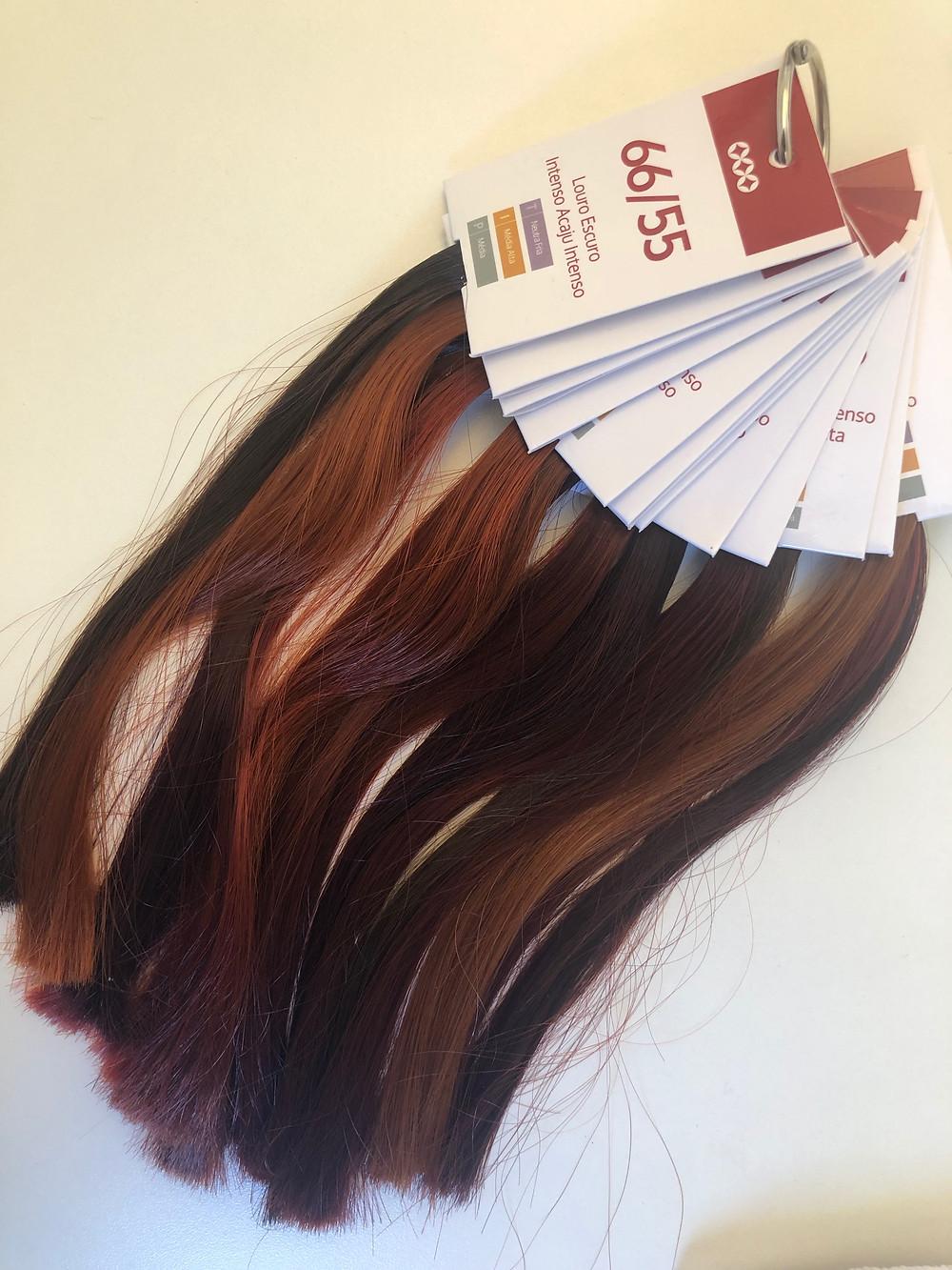 análise cromática cabelos