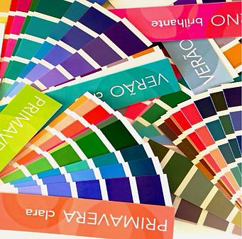 cartela de análise de cores coloração pessoal