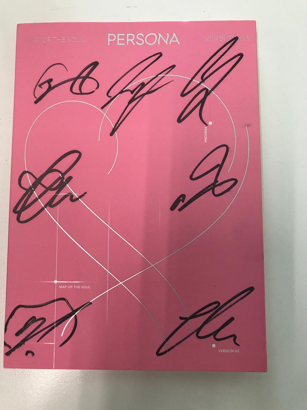 Signed bts persona album in korea