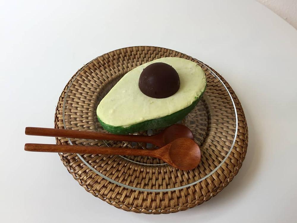 avocado cake cafe in Korea