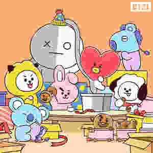 Tata, VAN, RJ, Chimmy, Cooky, Shooky, Mang, Koya, Kim Taehyung, ARMY, Kim Seokjin, Park Jimin, Jeon Jungkook, Min Yoongi, Jung Hoseok, Kim Namjoon, BTS, BT21,