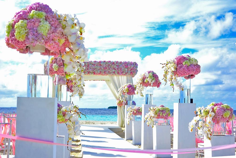 perfect sea side wedding venue in South Korea