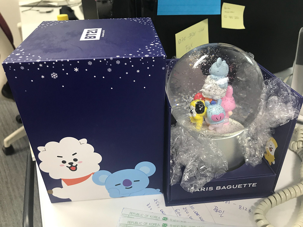 Paris Baguette XBT21 Collaboration Snow Globe